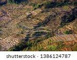 samaba rice terrace fields in... | Shutterstock . vector #1386124787