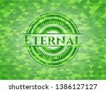 eternal green emblem with...   Shutterstock .eps vector #1386127127