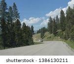 wyoming  usa  july 2018  scenic ... | Shutterstock . vector #1386130211
