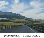 wyoming  usa  july 2018 ... | Shutterstock . vector #1386130277