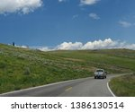 wyoming  usa  july 2018  wide... | Shutterstock . vector #1386130514