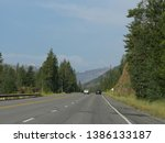 wyoming  usa  july 2018 ... | Shutterstock . vector #1386133187