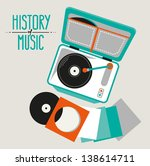 vintage music icon  old record... | Shutterstock .eps vector #138614711