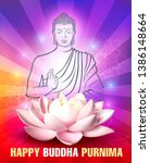 greeting card for buddha s... | Shutterstock .eps vector #1386148664