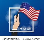 the hand of the businessman... | Shutterstock .eps vector #1386148904
