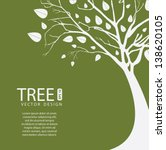 Tree Vector Design Over Olive...