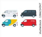 set blind van vector colorful... | Shutterstock .eps vector #1386214547