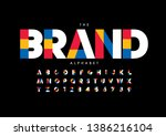 vector of stylized modern font... | Shutterstock .eps vector #1386216104