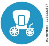 carriage isolated vector icon... | Shutterstock .eps vector #1386233537