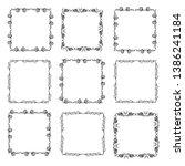 set of vector vintage frames on ... | Shutterstock .eps vector #1386241184