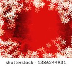 snowflake background design for ... | Shutterstock . vector #1386244931