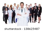 hospital staff represented by... | Shutterstock . vector #138625487