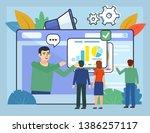 online learning  meeting ...   Shutterstock .eps vector #1386257117