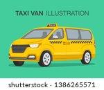 taxi cab company. van car...   Shutterstock .eps vector #1386265571