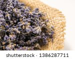 lavender bouquet wrapped in... | Shutterstock . vector #1386287711
