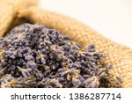 lavender bouquet wrapped in... | Shutterstock . vector #1386287714