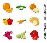 isolated object of vegetable...   Shutterstock .eps vector #1386307634