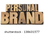 personal brand   isolated text... | Shutterstock . vector #138631577