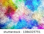 abstract painting drawn... | Shutterstock . vector #1386325751
