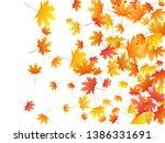 maple leaves vector background  ... | Shutterstock .eps vector #1386331691