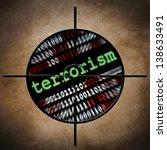 web terrorism target   Shutterstock . vector #138633491