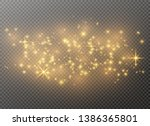 white sparks and golden stars... | Shutterstock .eps vector #1386365801