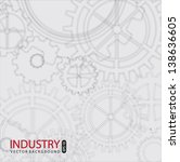 industry background with gray... | Shutterstock .eps vector #138636605