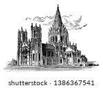 cathedral of saint john the... | Shutterstock .eps vector #1386367541