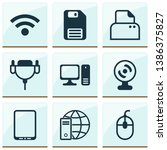 hardware icons set with floppy... | Shutterstock .eps vector #1386375827