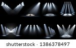 set of light effect spotlight | Shutterstock .eps vector #1386378497