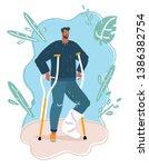 vector cartoon illustration of... | Shutterstock .eps vector #1386382754