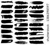 vector brush set. collection of ... | Shutterstock .eps vector #1386398597