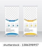 banner roll up design  business ... | Shutterstock .eps vector #1386398957
