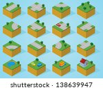 pre assembly isometric map road | Shutterstock .eps vector #138639947