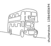 double decker bus continuous... | Shutterstock .eps vector #1386400694