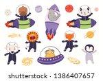 big set of cute animal... | Shutterstock .eps vector #1386407657
