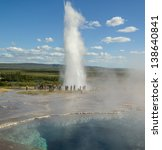 Geysers In Iceland Erupting And ...