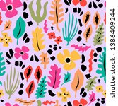 vector colorful pattern with... | Shutterstock .eps vector #1386409244