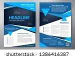 business brochure. flyer design.... | Shutterstock .eps vector #1386416387
