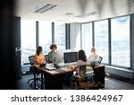 four female creative colleagues ... | Shutterstock . vector #1386424967