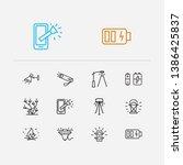 bright icons set. street lamp...