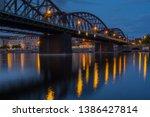 railway bridge and vltava river ... | Shutterstock . vector #1386427814