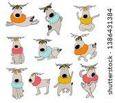 vector deer set illustration...   Shutterstock .eps vector #1386431384