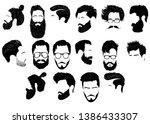 set of hairstyles for men.... | Shutterstock .eps vector #1386433307