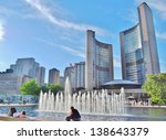 Stock photo toronto ca june nathan phillips square on june in toronto the square is the site 138643379