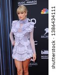 Small photo of Taylor Swift at the 2019 Billboard Music Awards held at the MGM Grand Garden Arena in Las Vegas, USA on May 1, 2019.