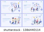 set of flat design concept of... | Shutterstock .eps vector #1386440114