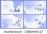 set of flat design concept of... | Shutterstock .eps vector #1386440117
