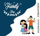 happy family day cartoon vector ...   Shutterstock .eps vector #1386445844