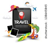 travel holiday smart phone | Shutterstock .eps vector #138645845